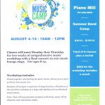 Spaces Still Available for our Summer Band Camp