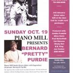 "Piano Mill presents Bernard ""Pretty"" Purdie on October 19"