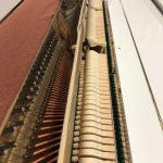 White Hyundai Model U820 continental style upright piano $1,900