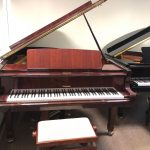 "Weinbach Mahogany Grand Piano 6'4""  $11,500"