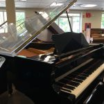 Young Chang Baby grand piano one of a kind clear plexiglass lid!