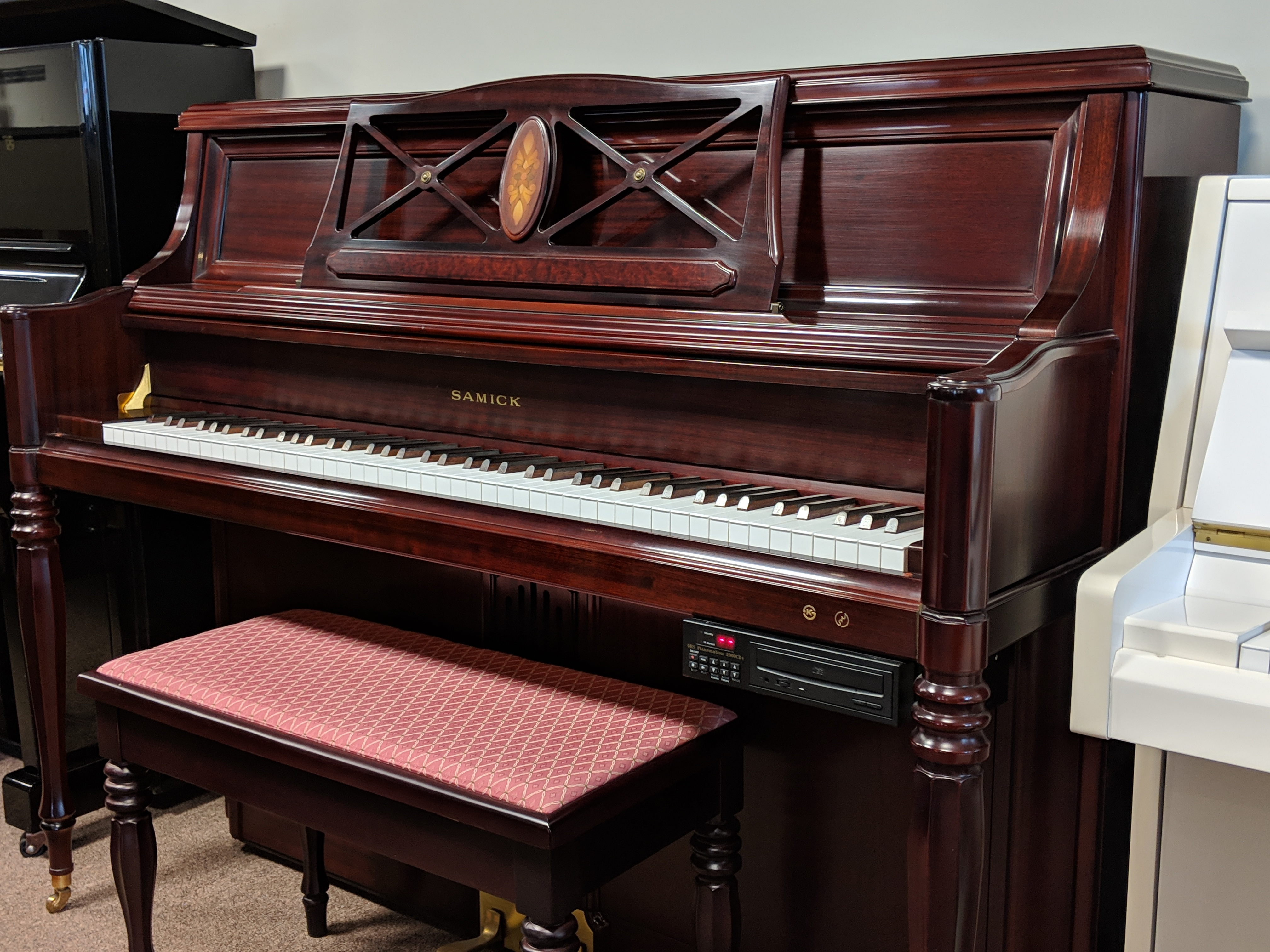 samick upright piano with digital player system piano mill. Black Bedroom Furniture Sets. Home Design Ideas